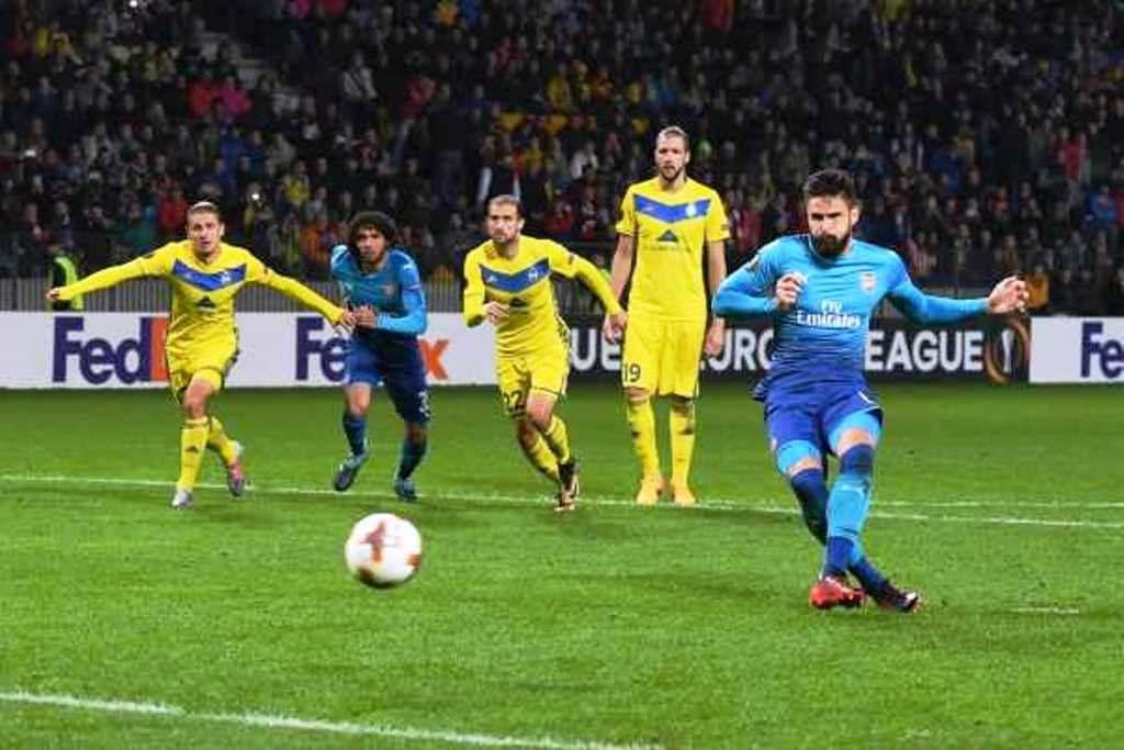 Prediksi Skor Arsenal Vs BATE Borisov 22 Februari 2019